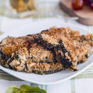 Рецепт Запеканка из цукини с сальсой верде