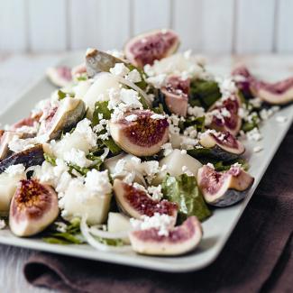 Рецепт Салат из инжира с дыней