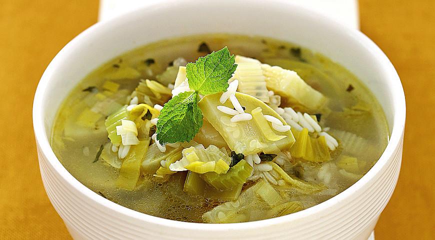 Рецепт Рисовый суп с сельдереем и мятой