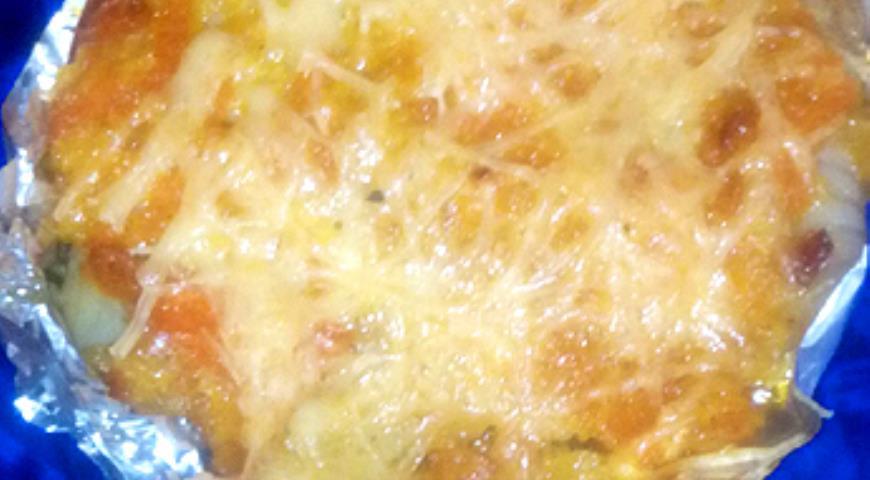 Рецепт Тилапия под овощной шубой