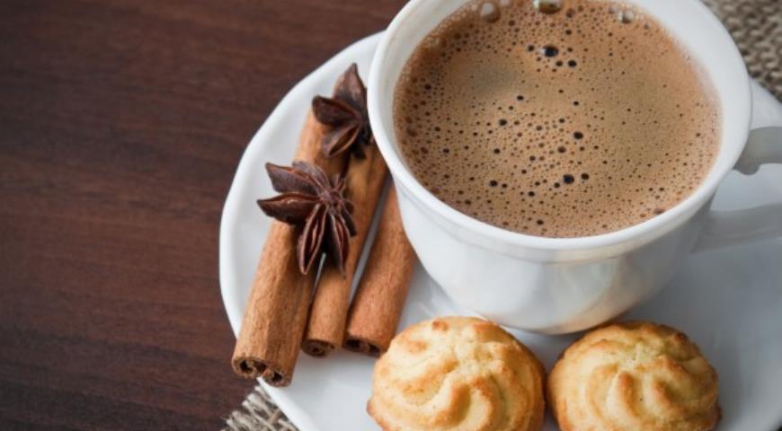 Рецепт Кофе с шоколадом и корицей