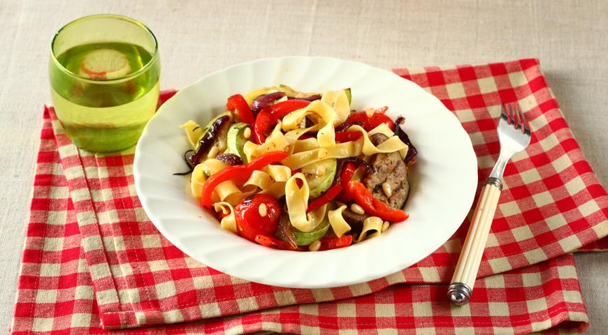Рецепт Паста с овощами-гриль