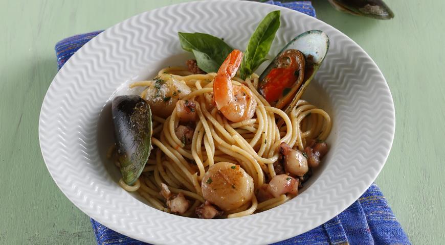 паста с морепродуктами для диеты