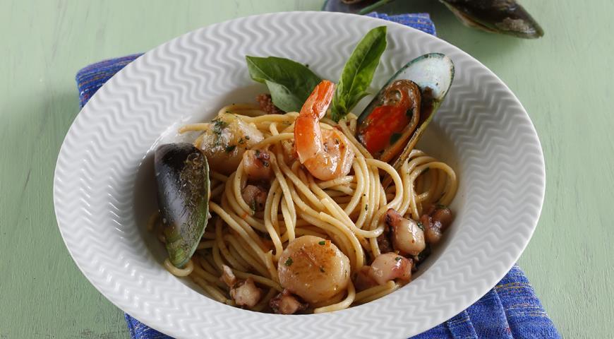Рецепт Паста с креветками