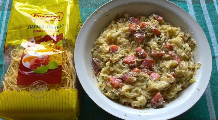 Блюда из яичной лапши рецепты с фото