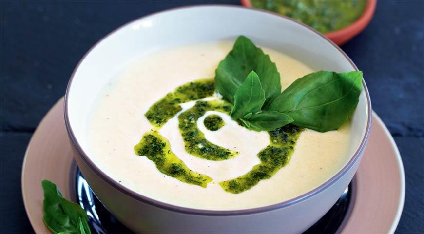 Рецепт Сливочный суп из артишоков с песто