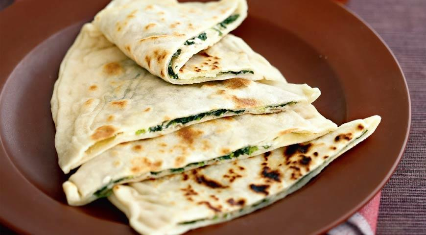 Рецепт Гезлеме со шпинатом и сыром