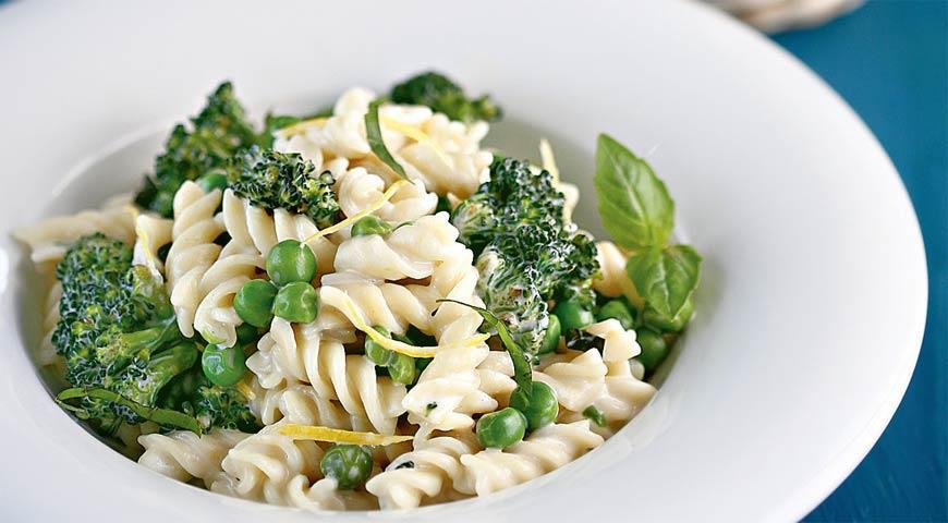 Рецепт Паста с зелеными овощами и маскарпоне