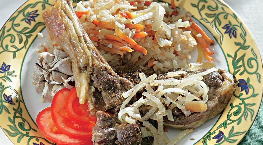 Рецепт Баранина, запеченная с рисом