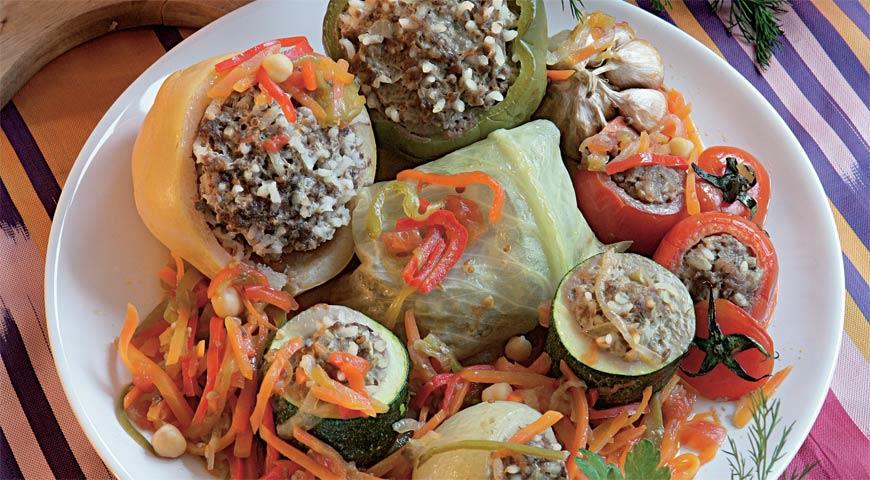 Рецепт Праздничные фаршированные овощи