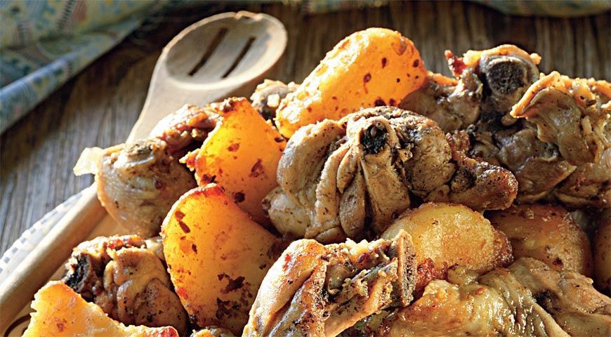Блюда узбекской кухни с курицей