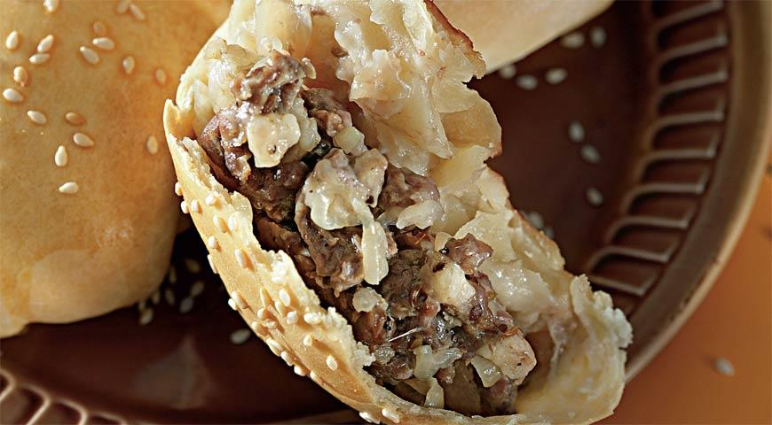 Рецепт Большая круглая сомса с мясом