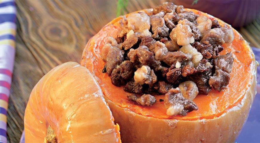 Рецепт Шах-тыква, фаршированная мясом