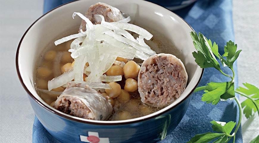 Рецепт Суп с хасипом и нутом
