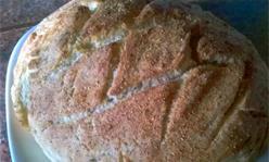 Хлеб с отрубями в духовке, закуска, выпечка