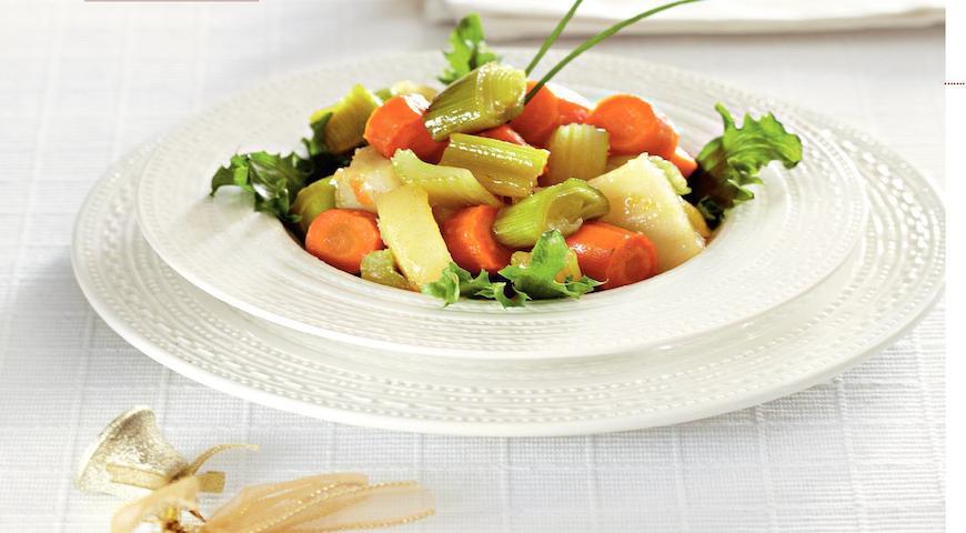 Рецепт Глазированные овощи с розмариновым медом