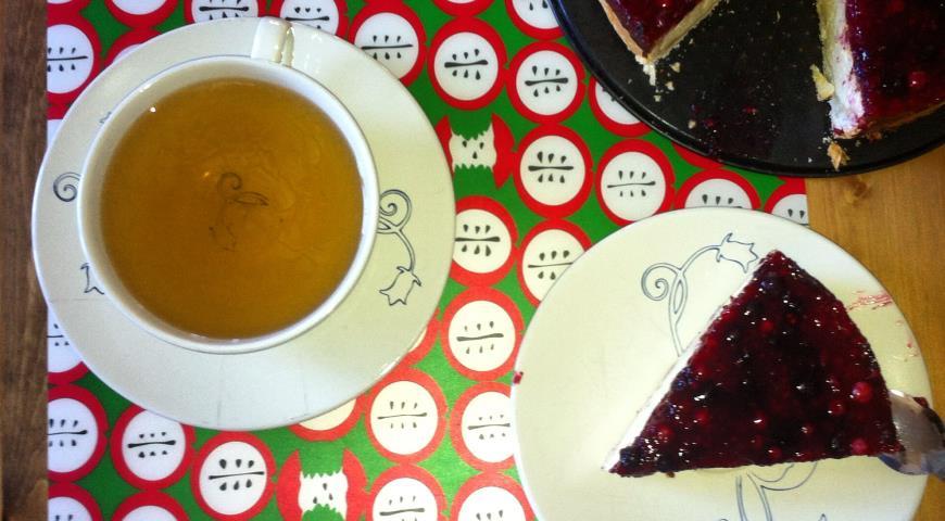 Рецепт Домашний ягодный чизкейк