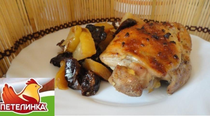 Рецепт Курица в рукаве с черносливом