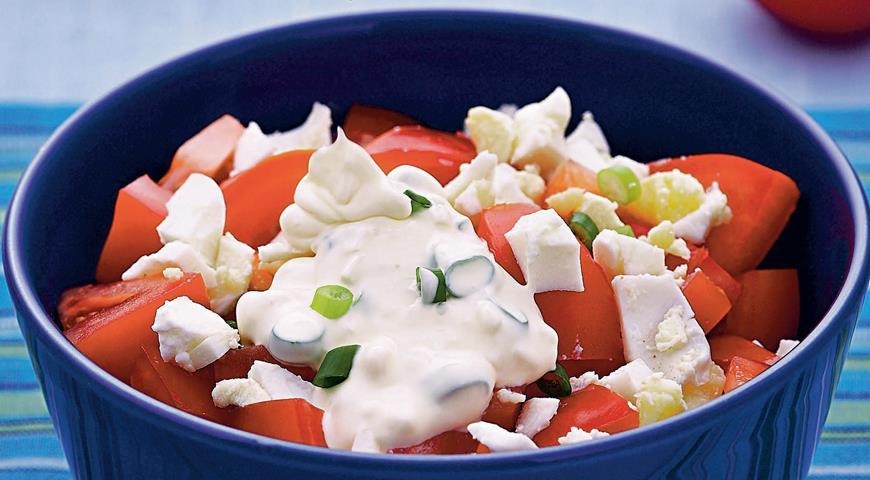 Рецепт Помидоры с соусом из редьки