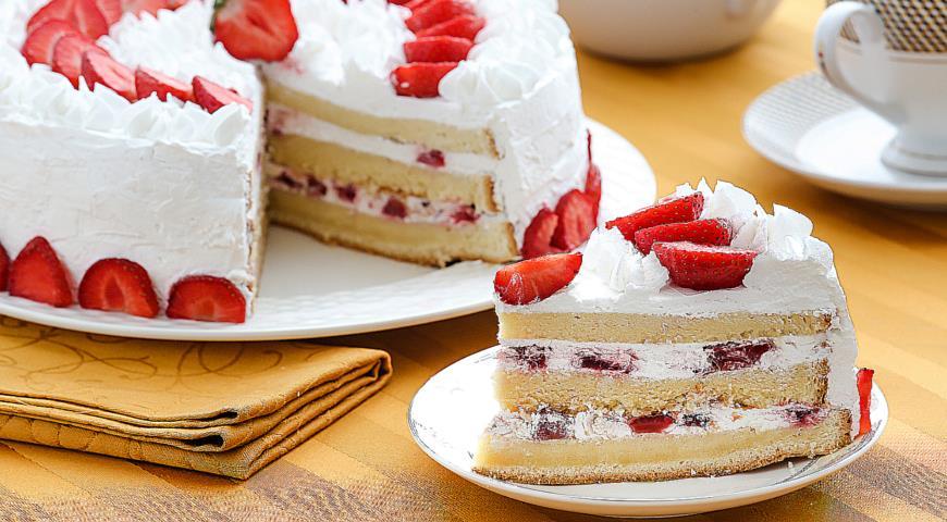 бисквитный торт пошаговый рецепт фото