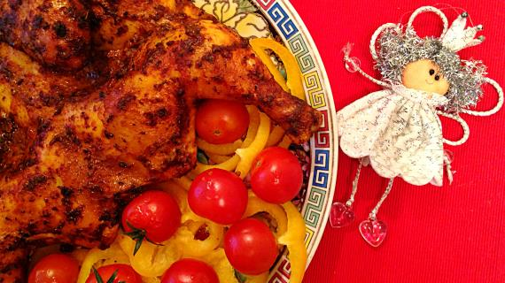 Курица в остром маринаде, запеченная в духовке