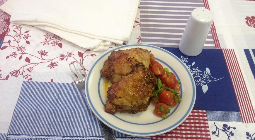 Рецепт Куриные бедрышки с острым перцем и медом
