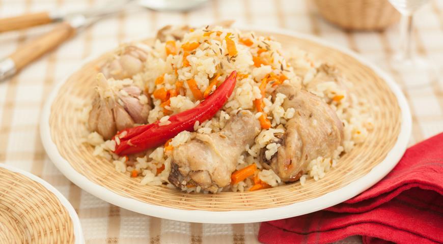 Как готовить плов из курицы и фото