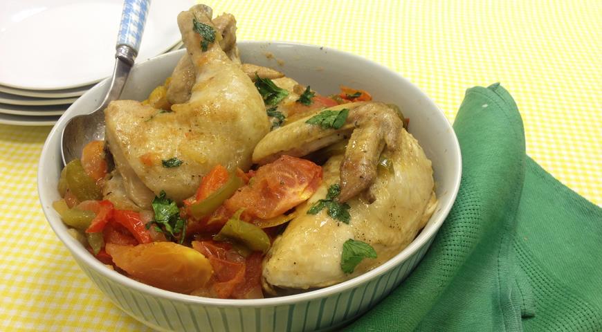 Рецепт Курица с болгарским перцем