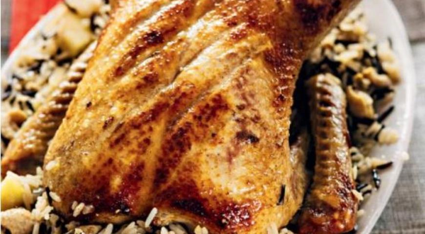 Рецепт Фаршированная рисом утка