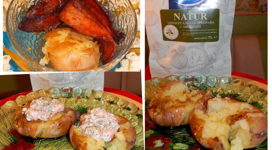 Рецепт Ароматный печеный картофель в горшочках