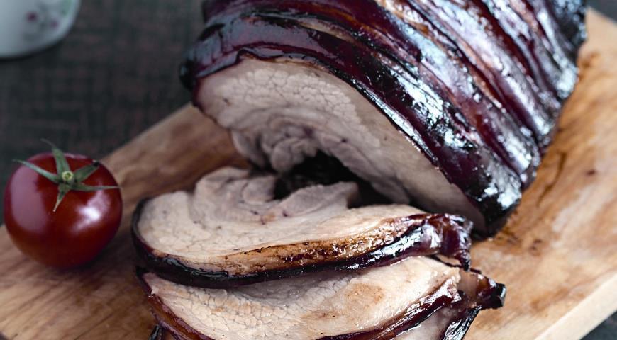 Рецепт Свиная грудинка в медово-соевом маринаде