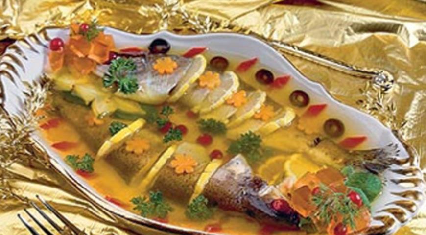 Рецепт Заливная новогодняя рыба