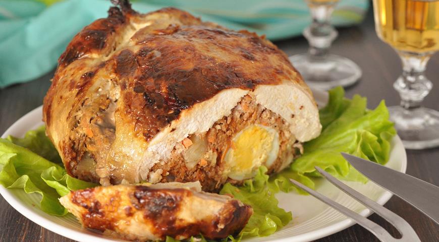 Рецепт Курица фаршированная, праздничная