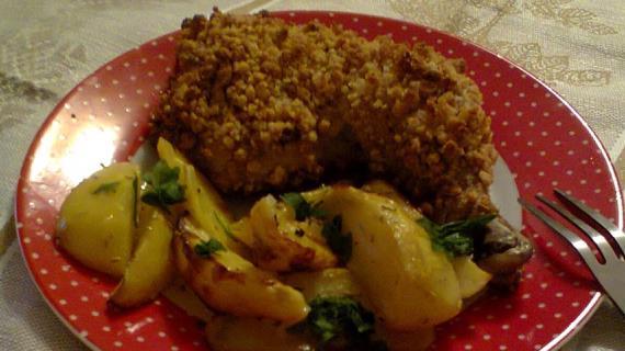 Ореховая курочка, пошаговый рецепт с фото: http://www.gastronom.ru/recipe/24737/orehovaya-kurochka