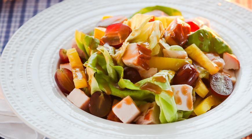 салат виноград с курицей пошаговый рецепт