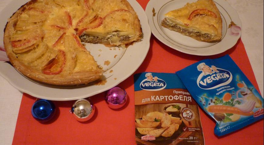 Рецепт Открытый пирог Картофельная карусель