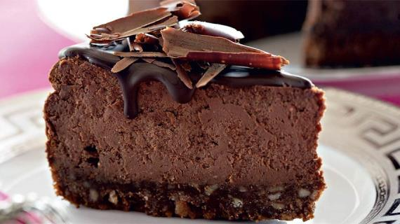 Шоколадно-творожный чизкейк, пошаговый рецепт с фото