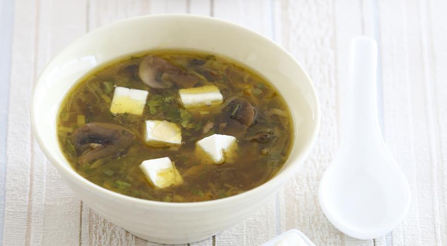 Рецепт Суп с тофу и шампиньонами