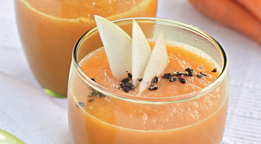 Рецепт Морковный суп-пюре с яблоками