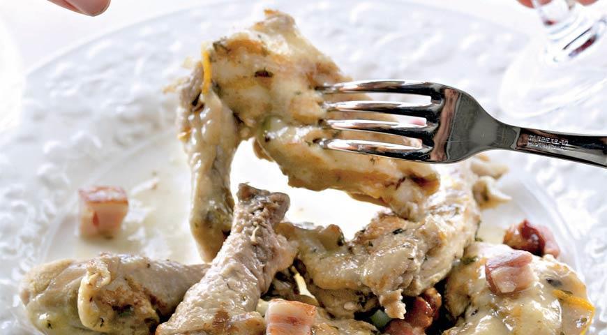 Рецепт Цыпленок в медово-винном соусе