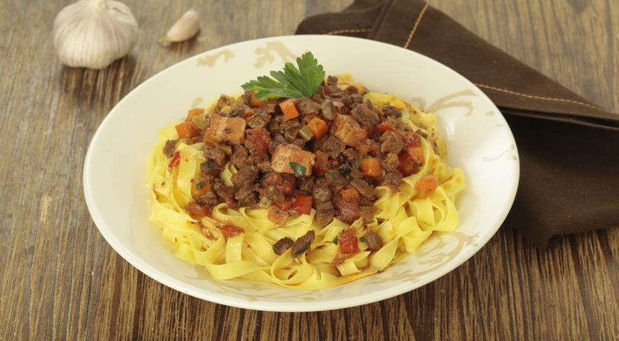 Рецепт Настоящая паста болоньезе