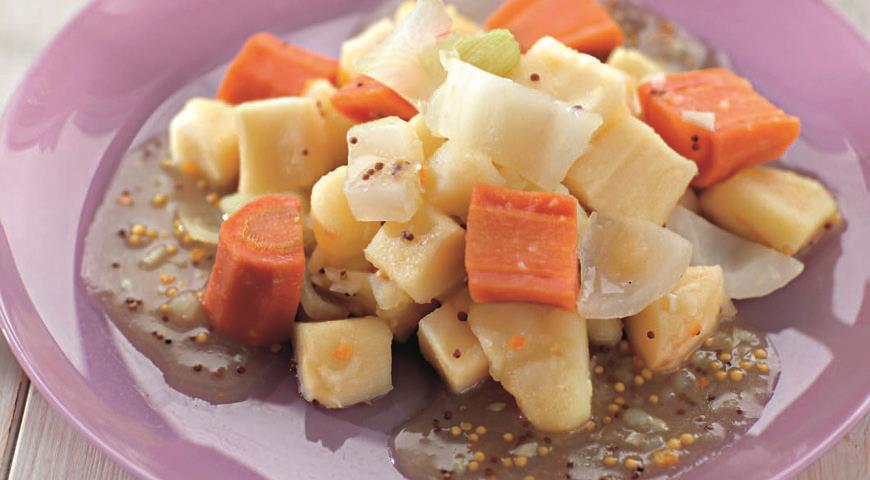 Рецепт Овощи в медово-горчичном соусе