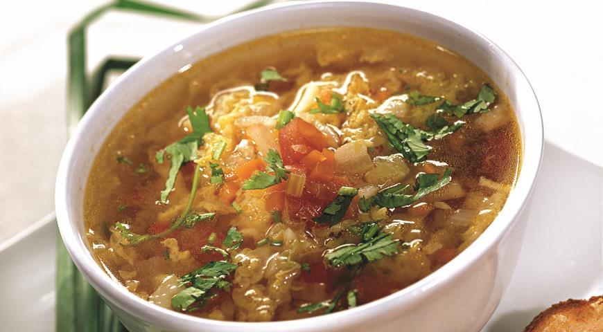 Рецепт Овощной суп с гренками