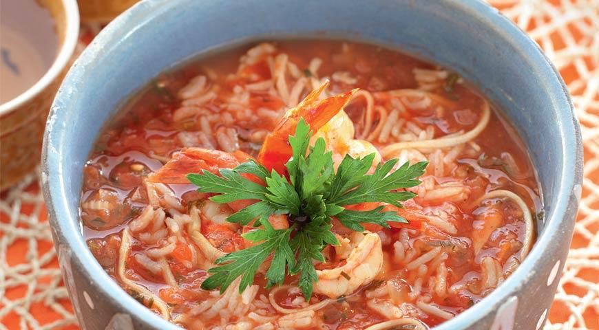 Рецепт Гамбо с морепродуктами и рисом