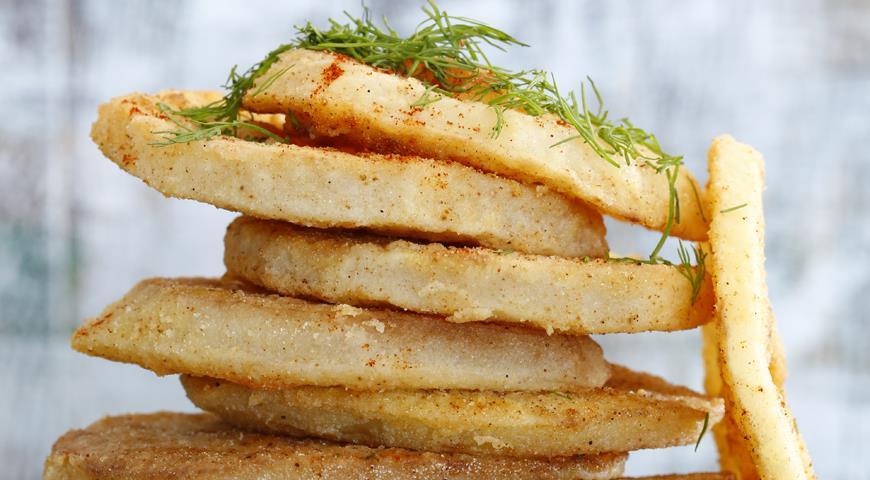 Рецепт Кольраби в кукурузной корочке