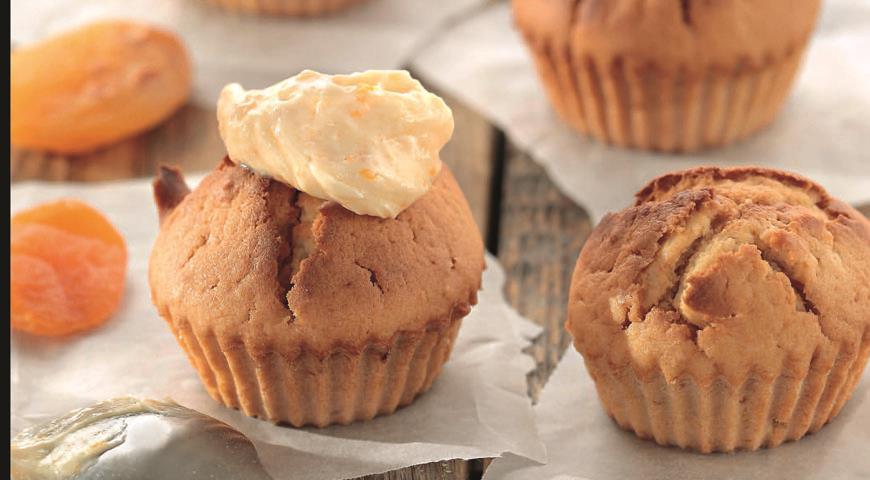 Рецепт Абрикосовые кексы со сливочным кремом