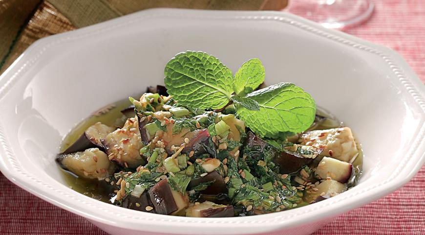 Рецепт Баклажаны с чесноком и мятой