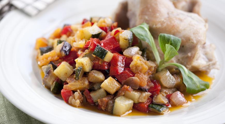 Рецепт Писто манчего, овощное рагу
