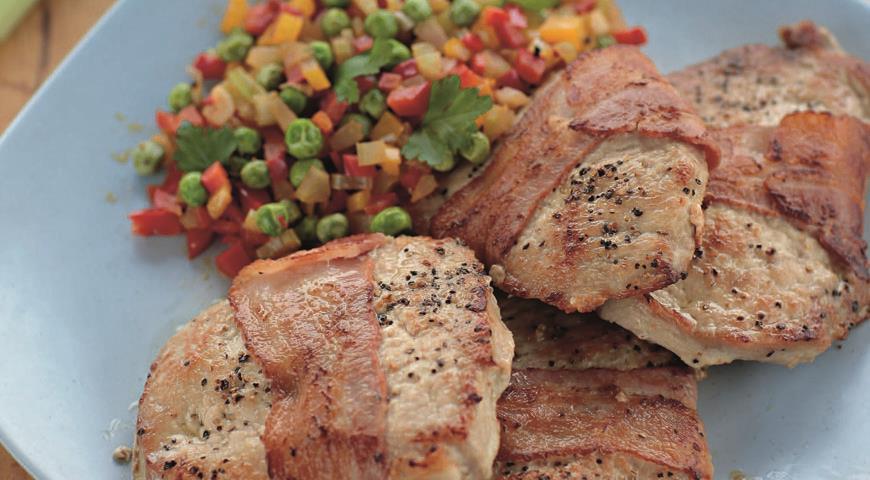 Рецепт Свиные отбивные с овощами
