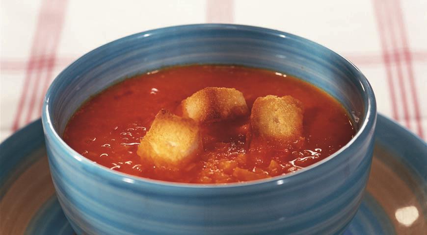 Рецепт Томатный суп с перцами